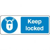 Mandatory Safety Sign - Keep Locked 092